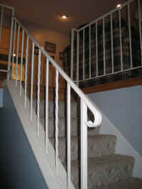 Original wrought iron railing