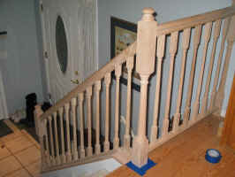 Completed railing- pre-finishing