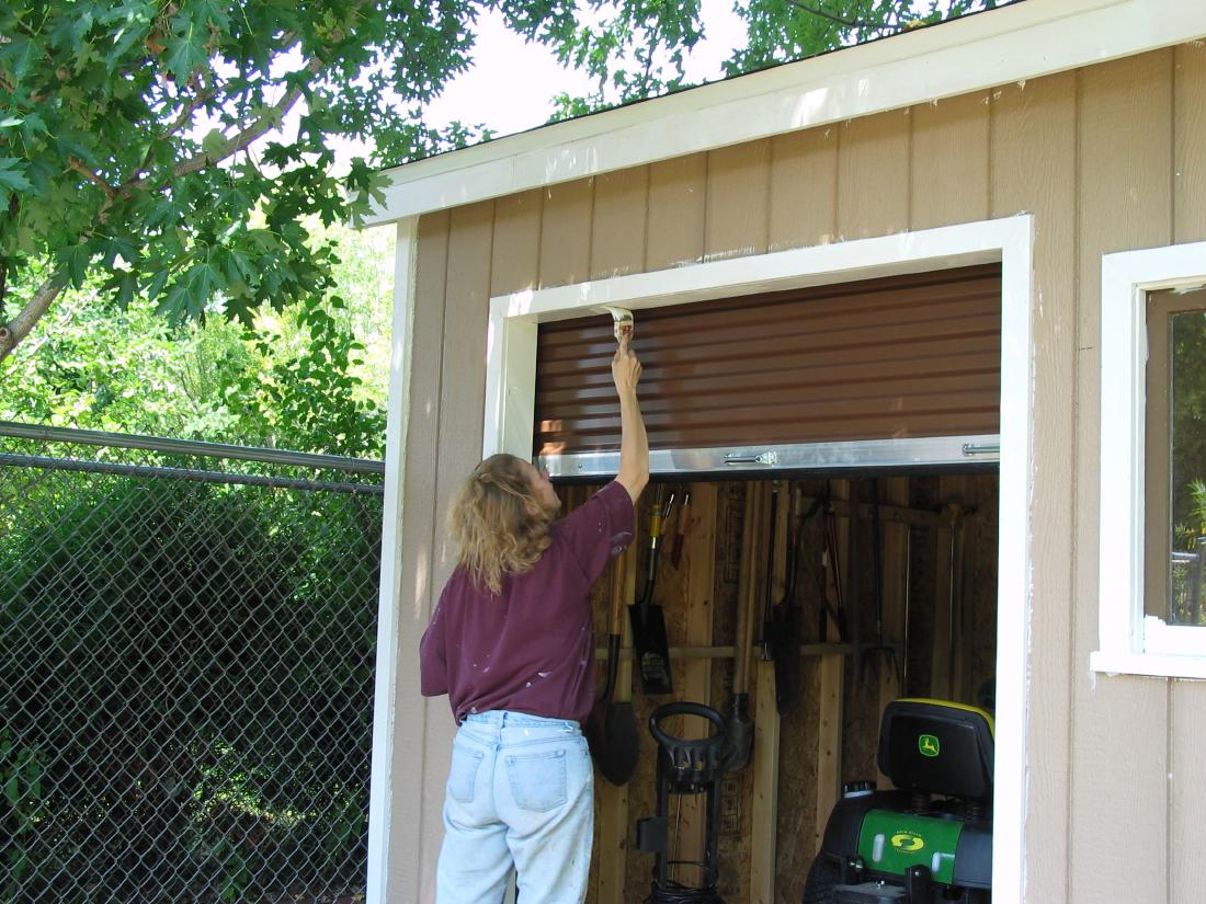 10x12 shed with roll up door cedarburg wi 10x15 barn with for Overhead doors for sheds